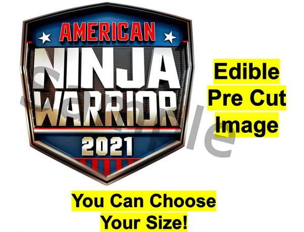 American Ninja Warrior 2021 EDIBLE Cake Cupcake Image Topper