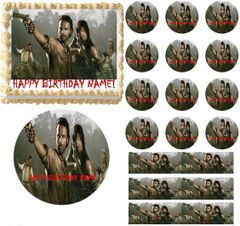 Walking Dead Cast Party Edible Cake Topper Image Frosting Sheet