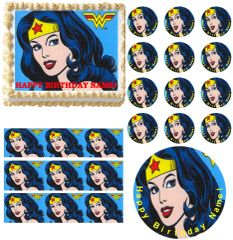 Wonder Woman Edible Cake Topper Image Frosting Sheet