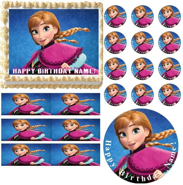 FROZEN ANNA Edible Cake Topper Image Frosting Sheet Cake Decoration