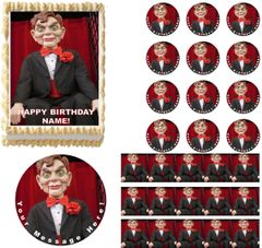 GOOSEBUMPS SLAPPY Dummy Doll Edible Cake Topper Image Frosting Sheet