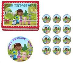 DOC McSTUFFINS CHARACTERS Edible Cake Topper Image Frosting Sheet