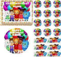 DANIEL TIGER'S NEIGHBORHOOD and Friends Edible Cake Topper Image Frosting Sheet