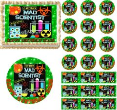MAD SCIENTIST Bubbling Potion Edible Cake Topper Image Frosting Sheet