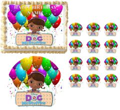 DOC McSTUFFINS CHARACTERS Ballons Image Edible Cake Topper Image Frosting Sheet