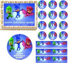 PJ MASKS Flying Edible Cake Topper Image Frosting Sheet