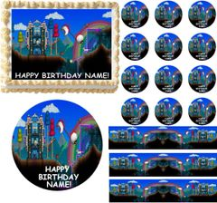 TERRARIA Theme Edible Cake Topper Image Frosting Sheet Cupcakes