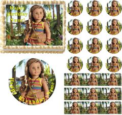 American Girl Doll 2016 LEA CLARK Photographer Up Close Edible Cake Topper Image Frosting Sheet