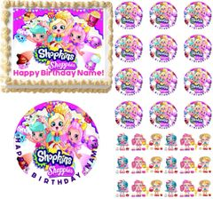 SHOPKINS SHOPPIES Party Edible Cake Topper Image Frosting Sheet