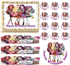 Ever After High Girls Party Edible Cake Topper Image Frosting Sheet
