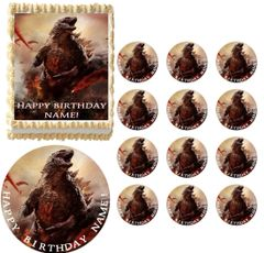 Godzilla Monster Beast Edible Cake Topper Image Frosting Sheet