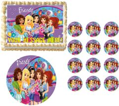 Lego Friends Party Edible Cake Topper Image Frosting Sheet