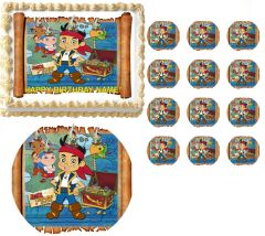 Jake and the Neverland Pirates Treasure Edible Cake Topper Image Frosting Sheet