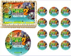 Plants vs Zombies 2 Edible Cake Topper Image Frosting Sheet