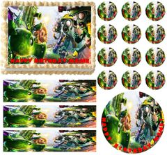 Plants vs Zombies Garden Warfare Edible Cake Topper Image Frosting Sheet