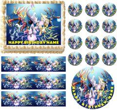 POKEMON X Y Edible Cake Topper Image Frosting Sheet