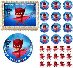 PJ Masks OWLETTE Edible Cake Topper Image Frosting Sheet Cake Decoration