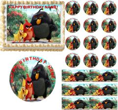 Angry Birds Movie Edible Cake Topper Image Frosting Sheet Cake Decoration