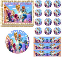 SHIMMER and SHINE Edible Cake Topper Image Frosting Sheet Cake Decoration