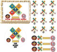 CUB SCOUTS RANKS Boy Scouts Edible Cake Topper Image Frosting Sheet