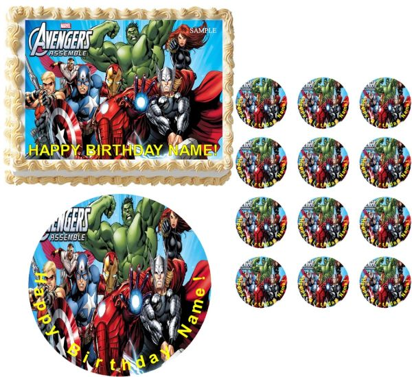 AVENGERS Party Edible Cake Topper Image Frosting Sheet