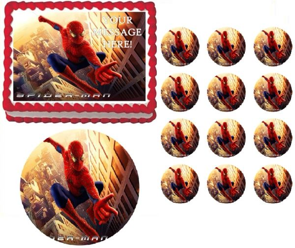 SPIDERMAN Edible Cake Topper Image Frosting Sheet