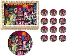 MONSTER HIGH DOLLS Sweet 16 Edible Cake Topper Image Frosting Sheet
