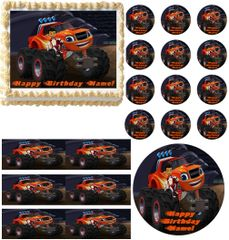 BLAZE and the MONSTER MACHINES AJ Edible Cake Topper Image Frosting Sheet