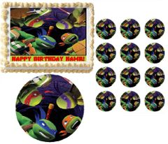 TEENAGE MUTANT NINJA TURTLES Looking Down TMNT Edible Cake Topper Image Frosting Sheet