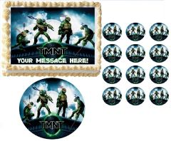 TEENAGE MUTANT NINJA TURTLES on Roof TMNT Edible Cake Topper Image Frosting Sheet