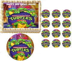 TEENAGE MUTANT NINJA TURTLES Manhole TMNT Edible Cake Topper Image Frosting Sheet