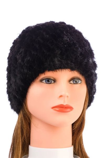 Mink Fur Hat-Black (AT50BKH)
