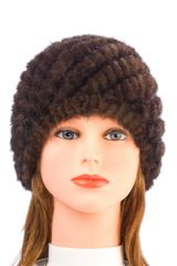 Mink Fur Hat-Brown (AT50BRH)