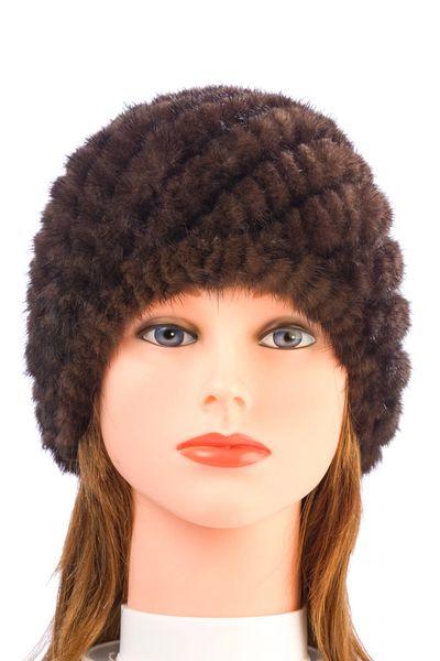 Mink Fur Hat-Brown (AT50BRH)