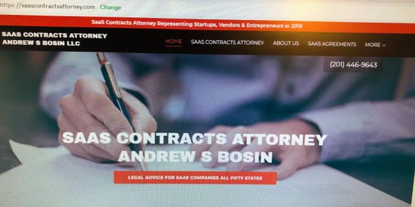 Please call SaaS Attorney Andrew S Bosin LLC for a free consultation at 201-446-9643.
