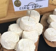 Goats cheese from The French Comte at Brook Green Farmers Market