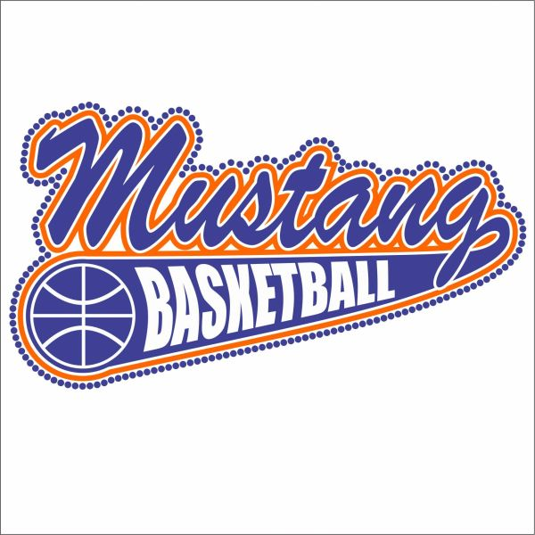 Basketball Team Name with Tail - Vinyl & Rhinestones