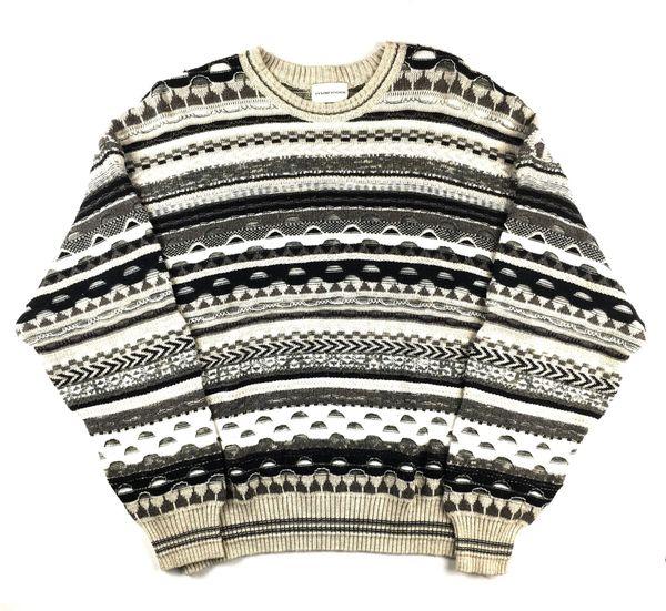 Coogi Style Sweater (White/Black)