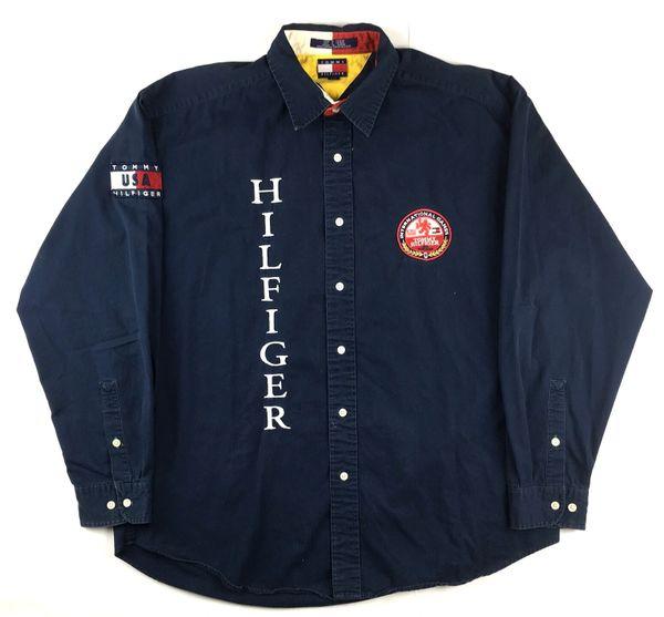 Vintage Tommy Hilfiger International Games Button Up