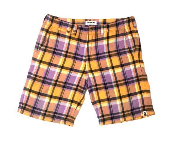 Bape Plaid Shorts