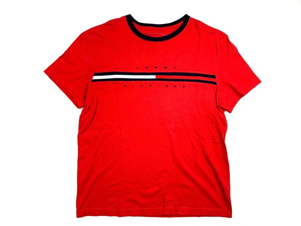 Tommy Hilfiger Flag Spellout Tee (red)