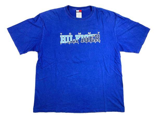 Vintage Tommy Hilfiger Split Spellout Tee (blue)