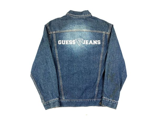 Guess Jeans Spellout Jean Jacket