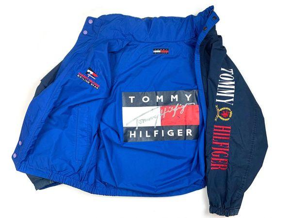 Vintage Reversible Tommy Hilfiger Spellout Big Flag Jacket