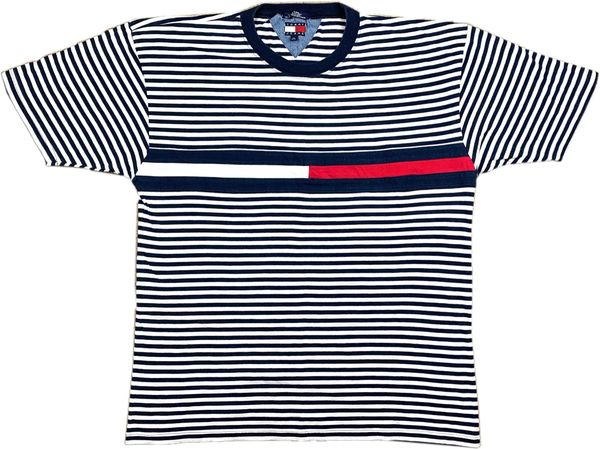 Vintage Tommy Hilfiger Striped Big Flag Tee
