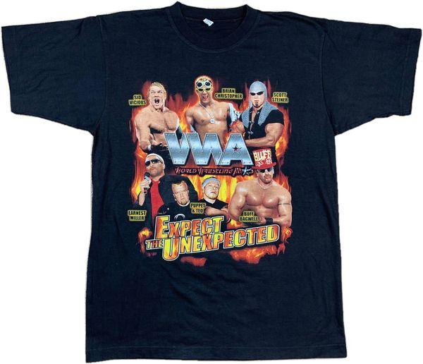 Vintage 2002 WWA World Wrestling Allstars Tee
