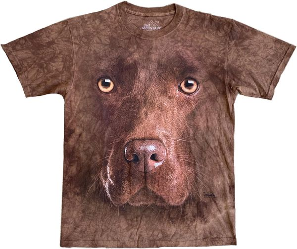 Chocolate Lab Dog Tie Dye Tee