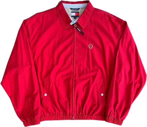 Vintage Tommy Hilfiger Zip Up Jacket (Red)