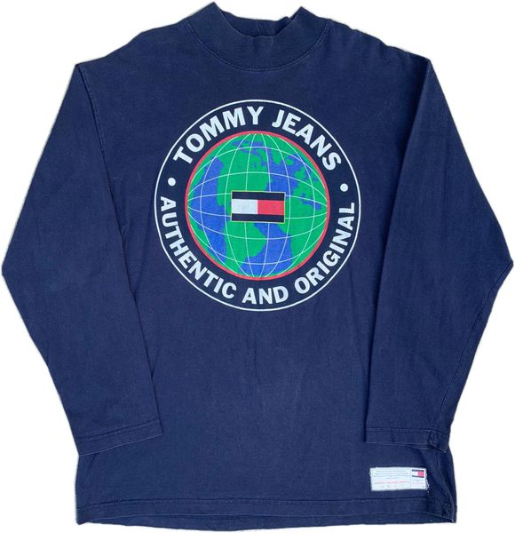 Vintage Tommy Jeans Earth Long Sleeve Tee