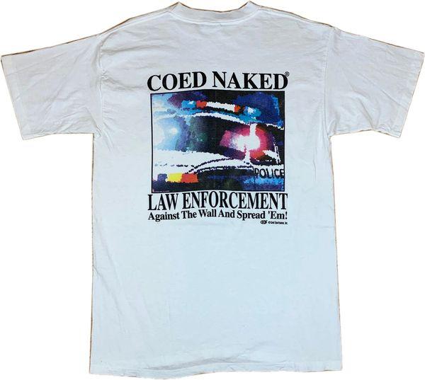 Vintage Coed Naked Law Enforcement Tee